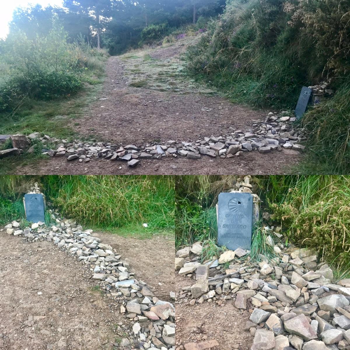 Crossing from Asturias into Galicia on the Camino Primitivo